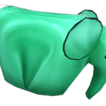 Audition-Cute Green Elephant Pouch