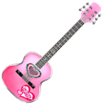 Audition-Cream Pink Heat Acoustic Guitar