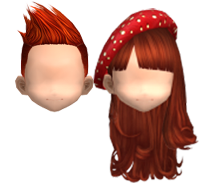 Audition Red Short Spiky Hairstyle Red Polka Beret Red Brown