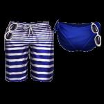 070418-Audition-Stripe Navy Couple Swimsuit