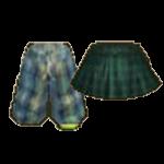 220318-Audition-GreenCheck Half Pants & Green Scotch Skirt