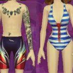Audition-Message-Tattos-Pro-Swimmer-&-Swimming-Sexy-Back-Bikini-