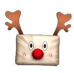 Shy Rudolph Christmas Pouch