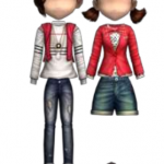Red Cardigan Couple Style