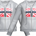 Flag Gray Hood T Shirt