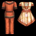 ชุดเซ็ต Native Style Indian Boy-Girl