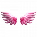 Pink wings spread love