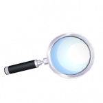 Silvery Border Magnifying Glass