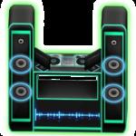 แท่นดีเจ Shiny Neon Sign DJ Booth