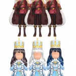 มงกุฎ-ชุดเซ็ต Blood KingSnow Queen