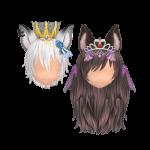 KingQueen Dark Night Wolf Howling