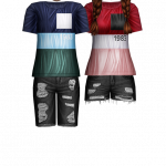 Funny couple color gradient style