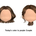 Today s color is purple Couple